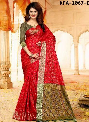 7e9e40549f Kaavifab Red Latest Red Heavy Banarasi Silk Patola Saree | ID ...
