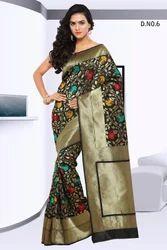 Black Designer Silk Sarees