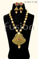 Antique Designer Pearl Kundan Pendant Sets