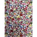 Polyester Printed Flower Fabric