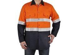 OEM 100% Cotton Safety Orange Work Shirts