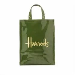 Green Laminated Loop Handle Carry Bag, For Shopping, Capacity: 2kg
