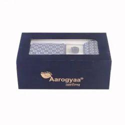 3 Pc Men''s Corporate Cute Blue Color Square Textile Weave Aarogyaa Silk Tie Neck Set Cuff Links Scar