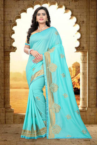 5a6377f3f0 Party Wear Embroidered Designer Heavy Georgette Saree, Rs 799 /piece ...