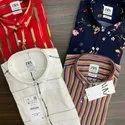 Rayon Viscose Collar Neck Mens Branded Shirts