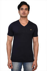 V Neck Men V-neck Cotton T-shirt