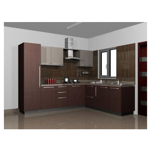 Kitchen Images Modular Kitchen Design Large Latest Designs: Indian L Shape Modular Kitchen, एल आकार की मॉड्यूलर रसोई
