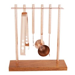 Bar Tools with Stand - Rose Gold