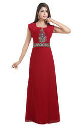 Henna Party Wear Maxi Kaftan Dress For Arabian Ladies