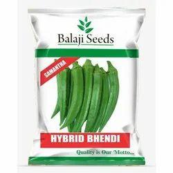 Balaji Samantha Hybrid Bhendi Seeds, Packaging Size: 250 Gram
