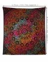 Psychedelic Star Mandala Designer Multi Color Tapestry