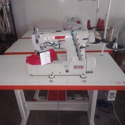 GE Flat Bed Fat Lock Interlock Machine