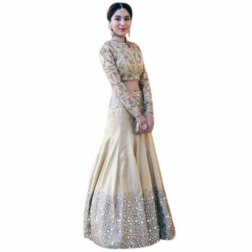 Silk Embroidered Ladies Crop Top Lehenga Set Kraft Luggage Industries Private Limited Id 15368888891