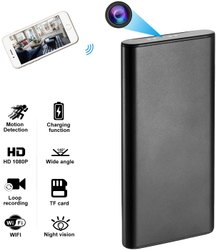 ABS Day & Night WIFI POWER BANK SPY CAMERA, For Security, Packaging Type: Box