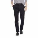 Black Cotton Mens Regular Fit Trouser