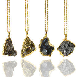 Druzy Gemstone Pendants