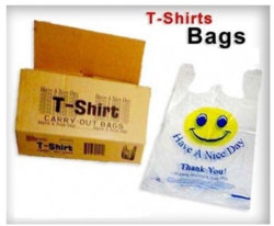 Solution Packaging Hdpe T Shirt Shopping Carry Bags for Heavy Weight, Bag Size: 6x15, 16x20