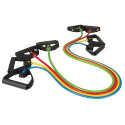Resistance Tube With Handles For Exercises And Training