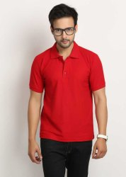 Polo Neck T Shirt Red,Styles Polo Neck