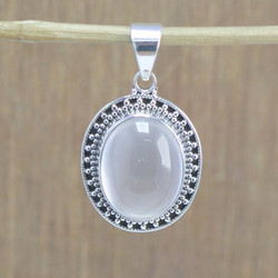 925 Sterling Silver Jewelry Rose Quartz Gemstone Fashion Pendant Wp-5552