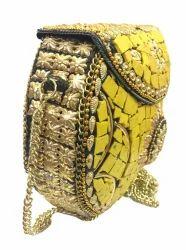 a14aeb0a64a6 Ethnic Metal Handbag Mosaic Clutch wallet sling bag Marriage Casual Clutches  bags cross bo.
