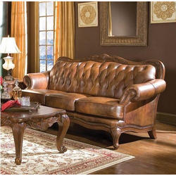 Brown Wooden Sofa