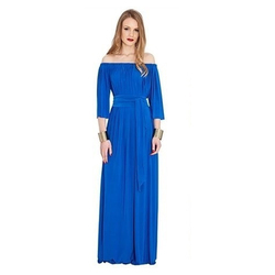 99 Pockets Royal Blue Ladies Long Lycra Gown