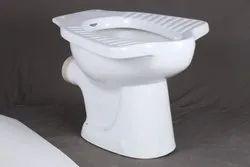 Black, White Anglo Toilet