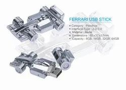 Silver Ferrari Car Shape Pendrive