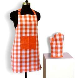 Orange Checks Apron