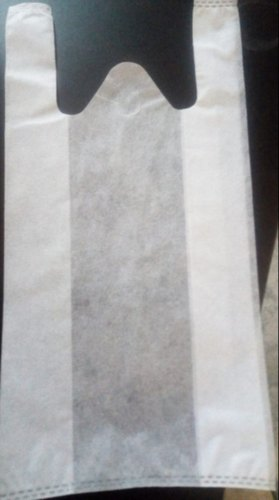White Plain W Cut Bag In 20 GSM