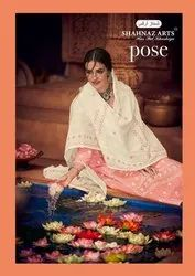 Shahnaz Arts Pose Pure Lawn Casual Wear Good Looking Fancy Dress Materials