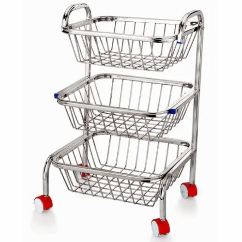 Ss Step Fruit Trolly