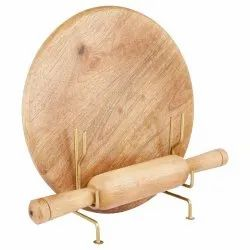 Wooden Chakla Belan with Stand