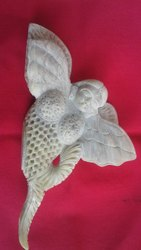 Carved white Marble decorative Fish, Size/Dimension: 9 Inch