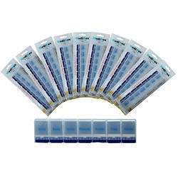 White With Blue Medibox Long Pill Box _ Pack Of 10, For Pharmaceutical, Size/Dimension: 28cm X 11cm X 33cm