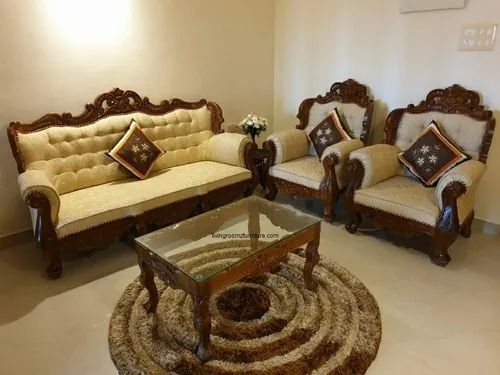 Teak Wood Sofa Set With Carving Works For Home Rs 98000 Set Living Roomz Id 21663498030
