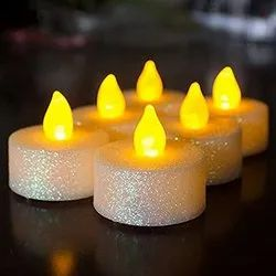 Cylindrical Battery Operated LED Candle, Alkaline