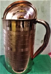Copper Sliver Touch Jug, Size: Full Size