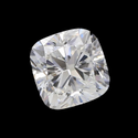 Certified Cushion Cut White Colorless Moissanite Stone