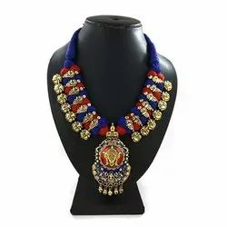 Meenakari Kolhapuri Threaded Designer Necklace