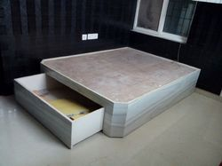 Wooden Double Bed With Drawer