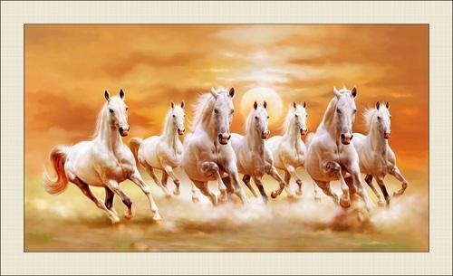 Seven Horses Painting As Per Vastu At Rs 2840 Piece Horse Painting Id 19913267012