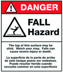 Polycarbonate Danger Stickers