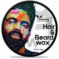 Oneway Happiness Hair and Beard Wax, Packaging Size: 75 G