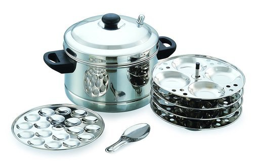 772153f0b57 Silver Stainless Steel Idli Cooker