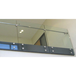 Office Button Glass Railing