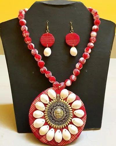 3e38a6d13 Handmade Fabric Jewellery at Rs 420 /set | Handmade Jewelry | ID ...