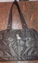 Black Pu Ladies Hand Bag
