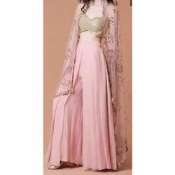 Embroidered Ladies Party Wear Dress